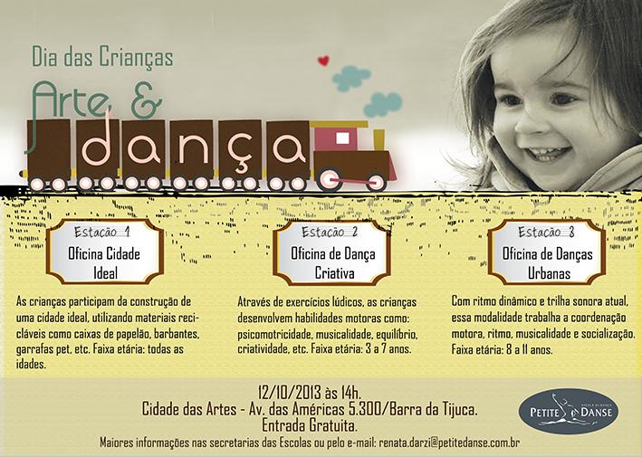 Que tal um Dia das Crianças super dançante? Essa é a proposta da Petite em parceria com a Cidade das Artes.