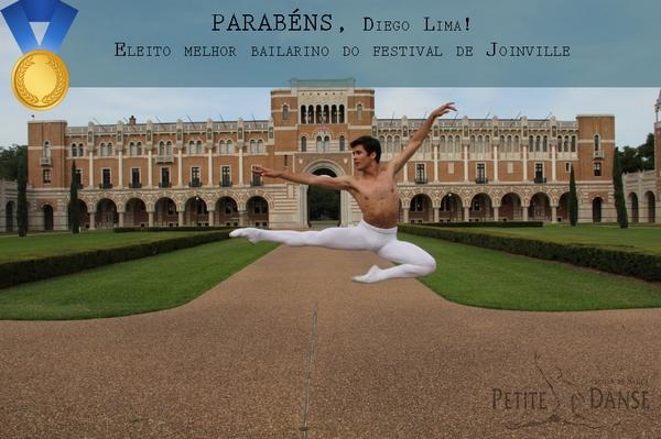 Diego Lima é eleito melhor bailarino do Festival de Dança de Joinville