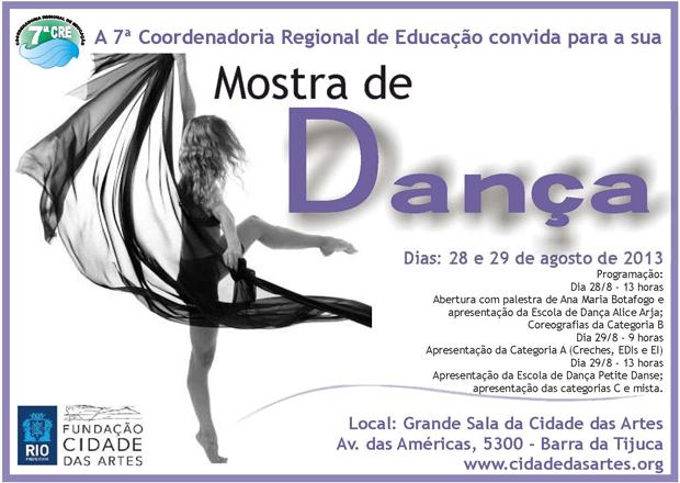 Convite para Abertura de Mostra de Dança