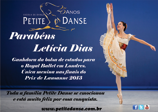 Parabéns Letícia Dias