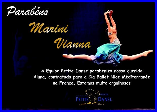 Marini Vianna é contratada para a Cia de Ballet Nice Mediterranée