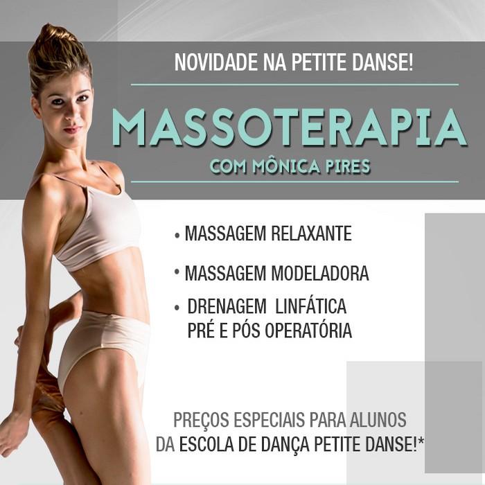 Massoterapia na Petite Danse