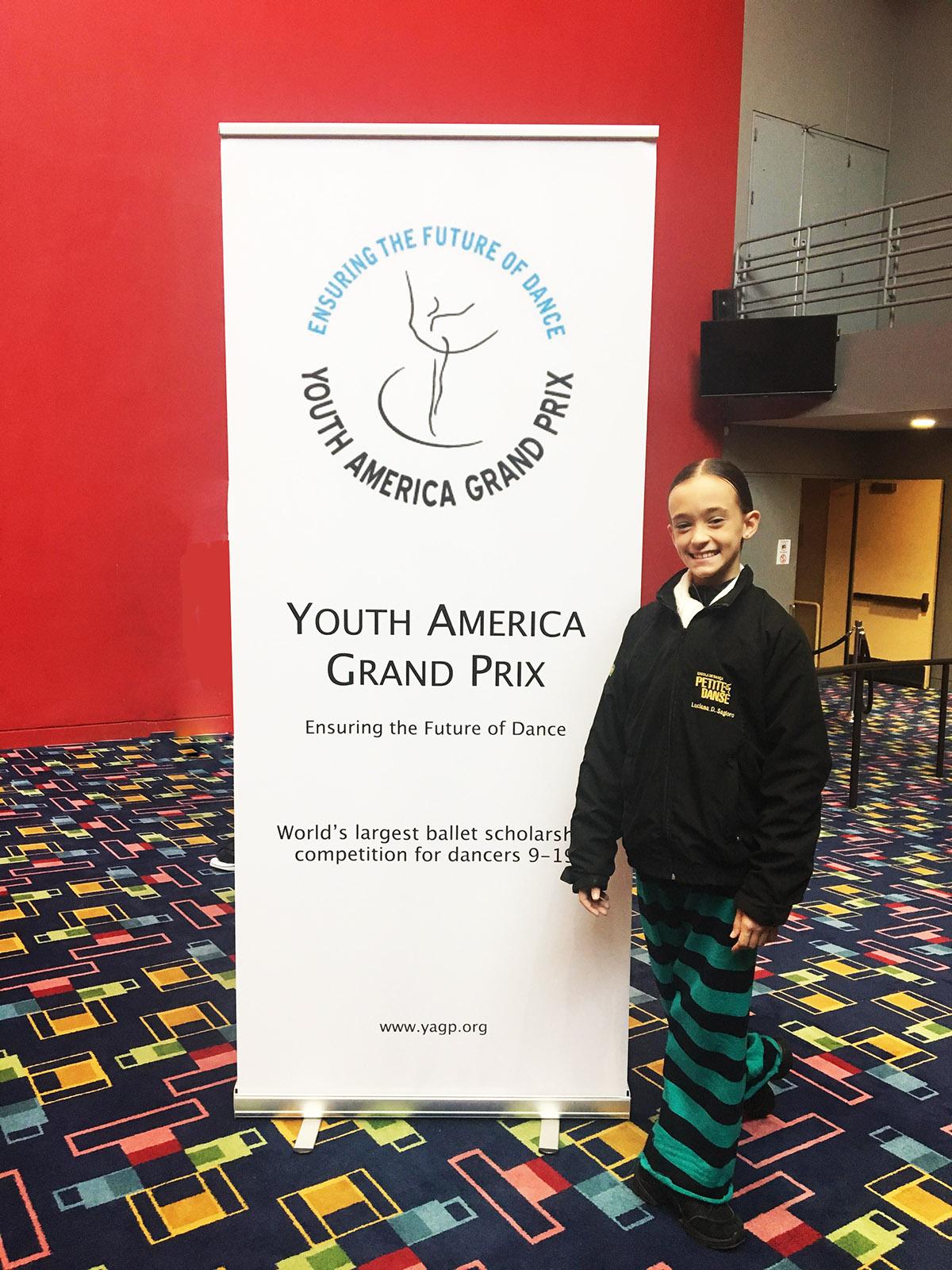 A aluna Luciana Sagioro participou do YAGP 2018